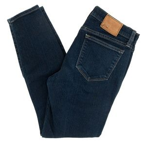J Crew Jeans Toothpick Ankle Length Mid Rise 28X27